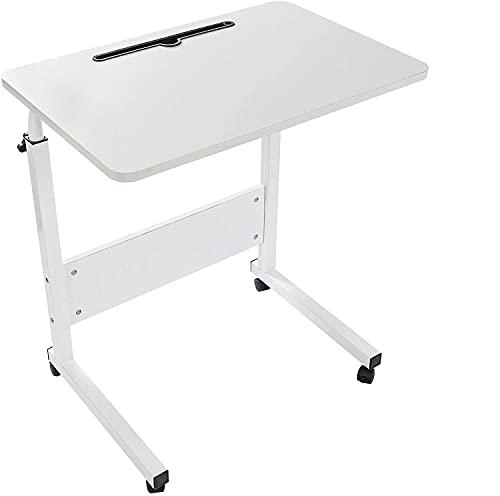 Grandma Shark Escritorio para Computadora Portátil, Mesa de Ordenador Extraíble y Altura Ajustable, Mesa Auxiliar portátil para sofá Cama (60 × 40 cm, Blanco)