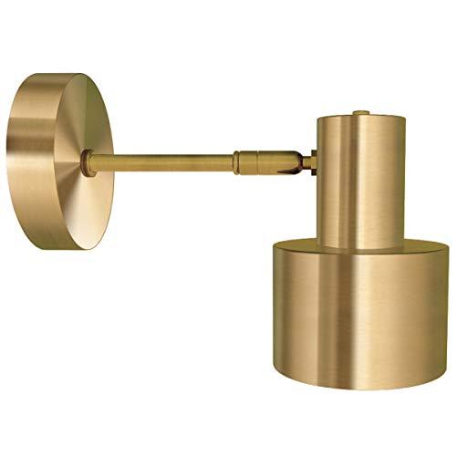 ALAMP Aplique Industrial Vintage, Aplique Antiguo con Pantalla de Oro para Sala de Estar, Dormitorio, lámpara de Pared, Luz Industrial Retro Creativa Deco Light