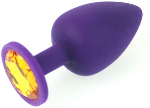 Butt grandes de silicona púrpura joya Plug Ámbar Joya SE & X Fetichistas BDSM Gear Por UZAN usa