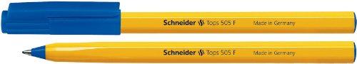 Schneider Tops 505 F Kugelschreiber (Clipkappe, Edelstahlspitze) 50er Packung blau