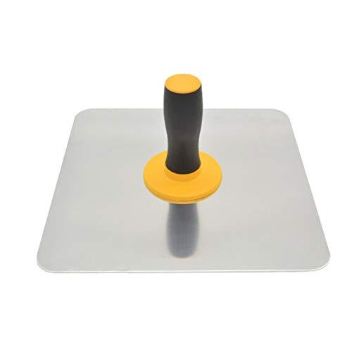 Falco per intonaco in alluminio, supporto per cartongesso con impugnatura morbida, strumento per intonacatura di finitura per cemento, malta, cartongesso