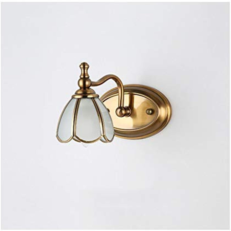 William 337 Wandleuchte Spiegel Scheinwerfer Bad Lampe Hotel Lobby Flur Lampe Make-Up Lampe Spiegel Kabinett Licht [Energieklasse A +] (Farbe   One head)
