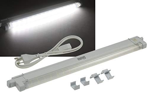 ChiliTec LED Unterbau Küchenleuchte 40cm 4Watt I Verlängerbar I inkl. Kabel Montageclips 230V Aufbauleuchte I Weiß