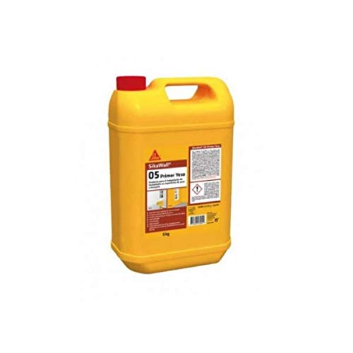 SikaWall - 05 Yeso, Resina acrílica para humedades en interior, 5 Kg, Blanco