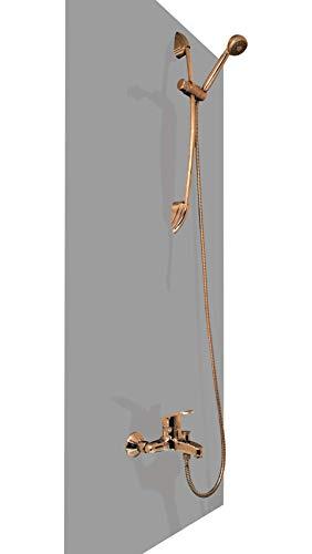Wasserfeste Duschrückwand als Wandverkleidung 100x200 cm (BxL)-PVC Kunststoff Platte für die Dusche in verschiedenen Farben-Langlebige Verkleidung im Badezimmer-Duschplatte/Duschwand Dunkelgrau