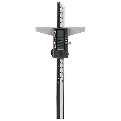 Calibro di profondità, Calibro a corsoio Digitale in Acciaio Inossidabile ad Alta precisione, Strumento di misurazione 0-150 mm 0,01 mm