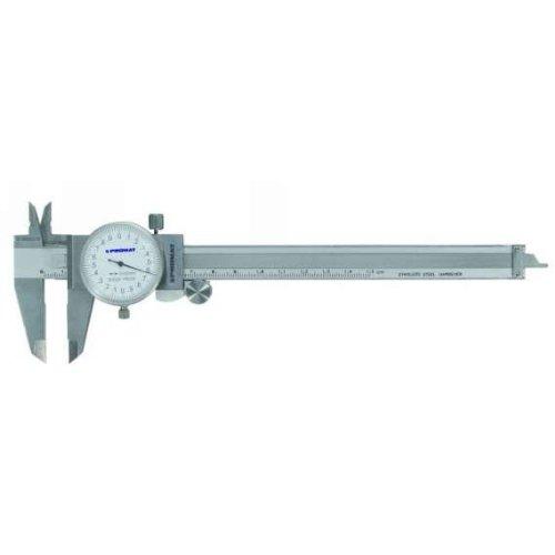 PROMAT 851031 Uhrmessschieber L.150mm m.Rundskala Ablesung 0,01mm PROMAT Schnabel-L.40mm