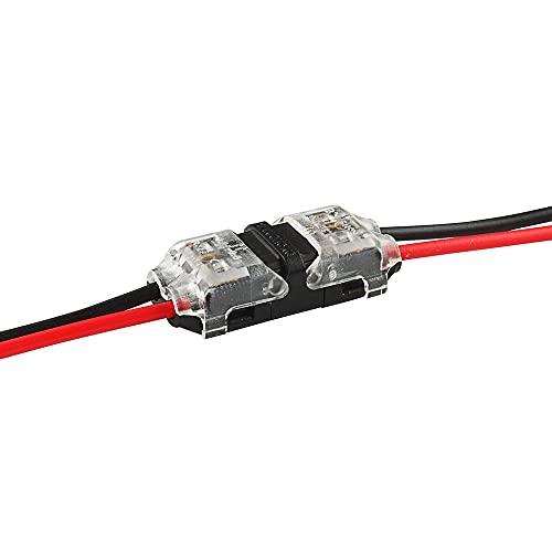 RONGW JKUNYU Conectores electrónicos 5/10 unids I/T Tipo 1Pin 2pin Spice Quick Scotch Scotch Block Conector para terminales Crimp 22-18AWG Cableado LED Tira Cable de Audio