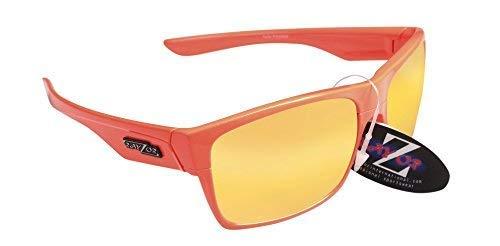 RayZor professionale leggero UV400arancione sport Wrap tiro con l' arco da sole, con un arancione Iridium obiettivo Rispecchiato