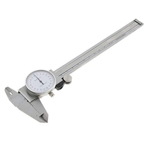 """Milageto Acero Inoxidable 0-150mm / 0-6\""""Calibrador De Esfera, Vernier Caliper Micrómetro De Calibre De 4 Vías"""