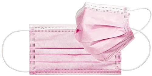 OP-Masken Typ IIR pink EN14683:2019 (CE Zertifiziert) 50 Stück 3-lagiger medizinischer Mundschutz Typ 2R pink