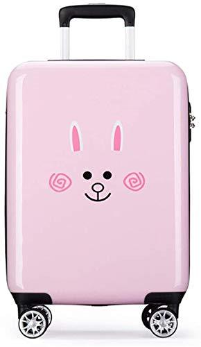 La maleta de dos ruedas se puede ampliar, los niños llevan un recorrido de rodaje de equipaje de cáscara dura,Pink