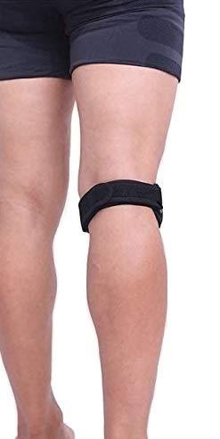 Cinturón de protección para la rodilla, ajustable, alivio efectivo del dolor del ligamento, articulación, ideal para la rodilla de saltador, corredor, trastorno de seguimiento de rótula - NEGRO