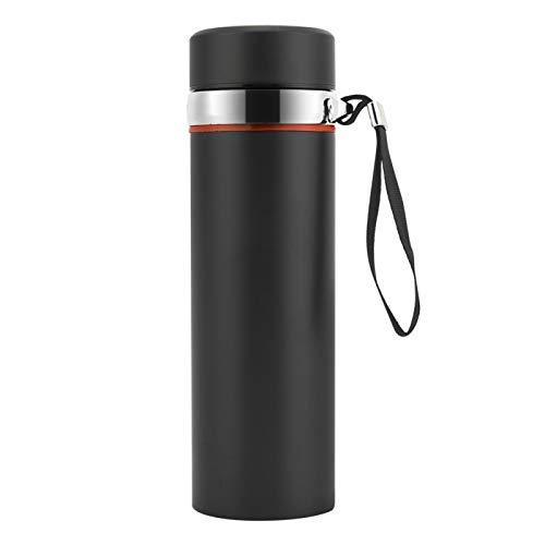 con buena tapa de sellado y boca de copa de rosca Botella de doble pared de 550 ml, para que pueda almacenar el agua, el café, el té y llevar a cualquier lugar