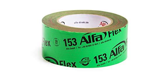 Flexibles Hochleistungsklebeband 1 Stück 60 mm x 25 m (25 Meter) für Dampfbremsen, Dampfsperren und Dachfolien, geschmeidiges Folienklebeband für das dauerhaft luftdichte Verkleben