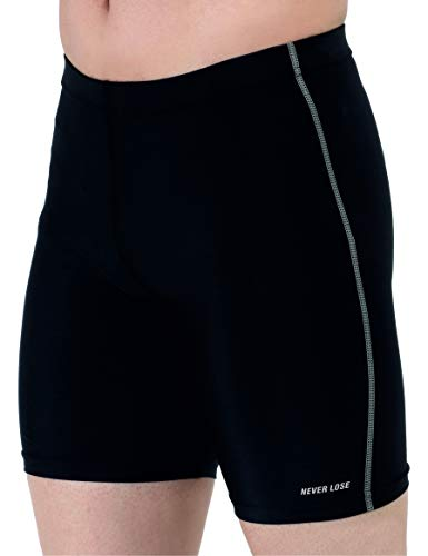 Never Lose Unisex Compression Sports Shorts Half Tights (XL)