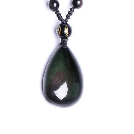 Pendentif en obsidienne oeil celeste, ideal en cadeau noel