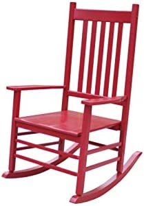 Best Rockingrocker-A001YRD Red Indoor Rocker/Rocking Chair -Easy to Assemble-Comfortable Wide Size-Outdoo