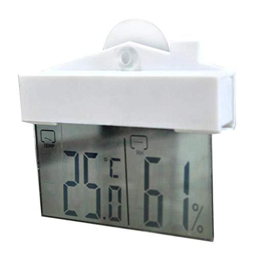 mengrui Innenwetterstation, Thermo-Hygrometer, Raumthermometer Digitaler Innenhygrometer-Monitor Temperatur- und Luftfeuchtigkeitsmesser für den Komfort im Heimbüro (Square)