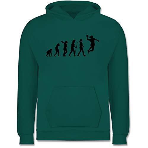 Shirtracer Evolution Kind - Handball Evolution Damen - 152 (12/13 Jahre) - Türkis - Kinder Hoodies mädchen - JH001K - Kinder Hoodie
