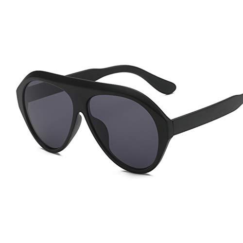 DNAMAZ Mujeres Piloto Gafas de Sol de Gran tamaño Femenino Vintage Gafas para Outdoor UV400 (Lenses Color : Sand Black)