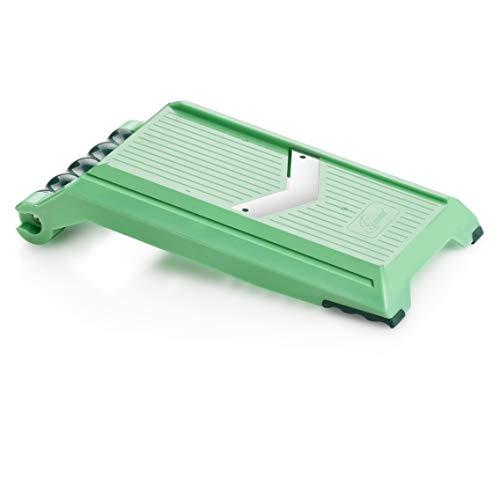 Genius Nicer Dicer Chef Speed Slicer verstellbarer Hobel inkl. Handy Hopper (2 Teile) - Ideal zum Schneiden von gleichmäßigen Scheiben (1-5mm) Schneid-Gerät