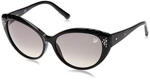 Swarovski Damen SK0055-5801B Sonnenbrille, Schwarz (Shiny Black), 58