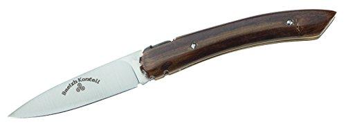 L'Atelier des Couteaux Breizh Kontell Couteau de Poche, Bois de Gaïac De Coupelles, Bleu, m