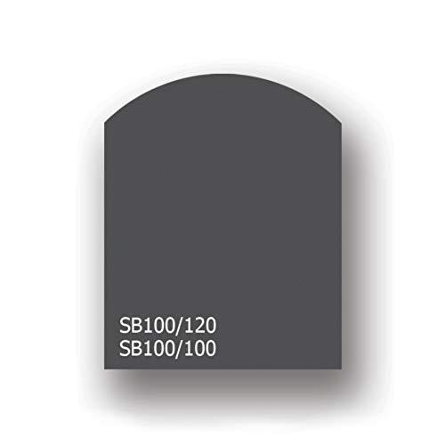 ProTermo Stahlbodenplatte | Funkenschutzplatte (Segmentbogen, 100 x 100 cm)