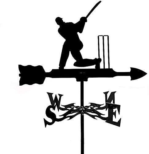 FHTD WeatherVane Weathercock de Acero Inoxidable Vane Vane Windblown Direction Indicator para la decoración del Patio del Patio de la Granja del Techo al Aire Libre,D