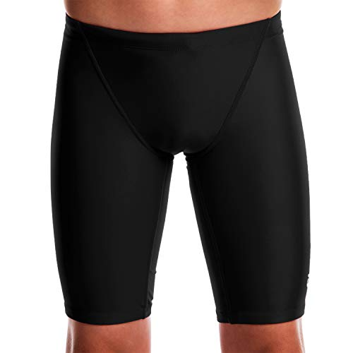 Flow Ignite Swim Jammers - Size 24 to 30 Swimming Jammer Shorts for Boys in Blue, Green, Red and Black (25 Black)