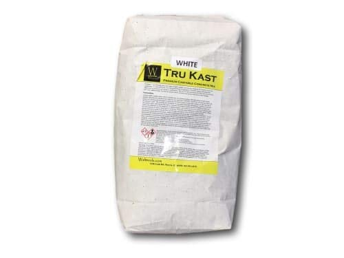 Concrete Countertop Mix by Walttools Tru Kast (White) Pre-Blended, All-in-One, High-Strength, Castable