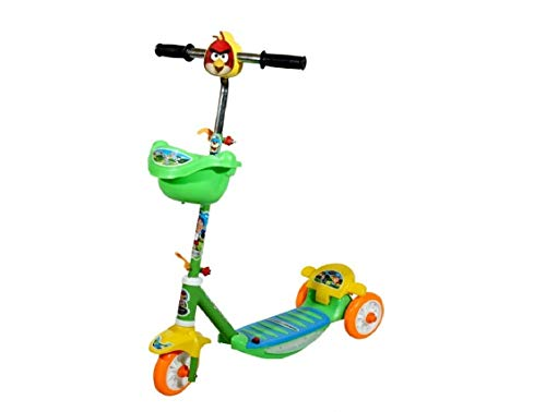 JoyRide Three Wheel Kick Scooter for Boys and Girls with Adjustable Height,Storage Basket , Foot Break (3 Years-8 Years)