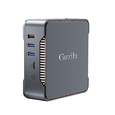 GUZILA Mini PC,Intel Celeron J4125 Processor(up to 2.7GHz) Windows 10 Pro Mini Desktop Computer with 8GB DDR4/256GB SSD,Support Triple Display,Gigabit Ethernet,Dual Band Wi-Fi,Bluetooth 4.2,4K HD