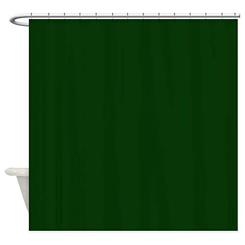 N\A Dunkelgrüner Duschvorhang aus dekorativem Stoff