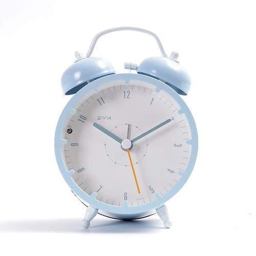 Despertador Reloj Despertador silencioso de Estudiante con Despertador sólido Silencio Retro Silencio Mini Reloj Despertador (Color : B11)