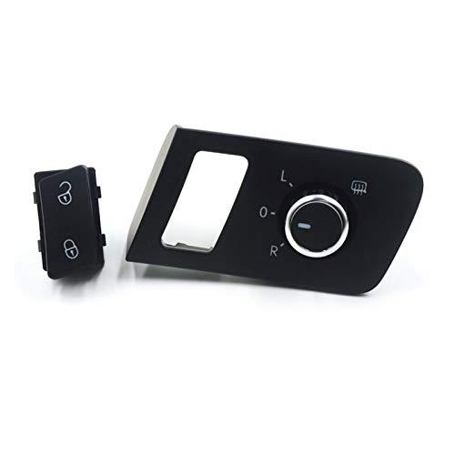 PUGONGYING Popular Botón de Interruptor de Control de Puerta de la Puerta de Saftey Central Fit para Volkswagen VW Touran Caddy 2003-2015 OE: 1T0 962 125B, 1T1 959 565F Durable
