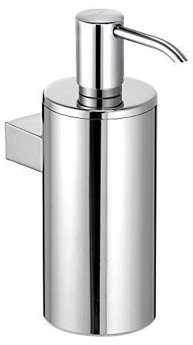 KEUCO Lotion-Spender Metall verchromt, Inhalt nachfüllbar ca. 250ml, Seifenspender für Bad und Gäste-WC, Wandmontage, Ersatz-Pumpe inklusive, Plan