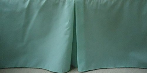Solid Mint Crib Skirt Tailored, Box-Pleat Baby Crib Skirt. Fits Toddler's Bed, New , 15 inches long.