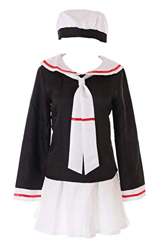 Kawaii-Story MN-45 Sakura Card Captor Japan Schooluniform matrozen zwart 4-delig set pak Anime Manga Cosplay kostuum