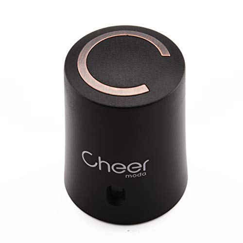 CHEER MODA Weinverschlüsse, Weinverschluss Weinsparvakuumpumpe und Weinflaschenverschluss mit Datumsmarkierung zum Entfernen von Luft und Vakuum - Weingeschenk für Weinliebhaber (Schwarz)