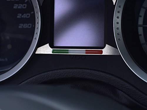 Cubierta De Acero para Alfa_Romeo 159 & BRERA & SPIDER (939) - 1 Pieza Placa Emblema de la bandera italiana Interior Decoración Inox Metal Cepillado Personalizados Hechos a Medida Tuning