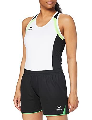 erima Damen Shorts 5-Cubes ohne Innenslip, Schwarz/Green, 44, 615410