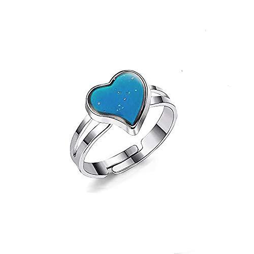 Anwin Farbwechsel Ringe Verstellbare Stimmungsringe für Kinder Damen Frauen und Mädchen Einstellbar 55-70MM 1 Stück