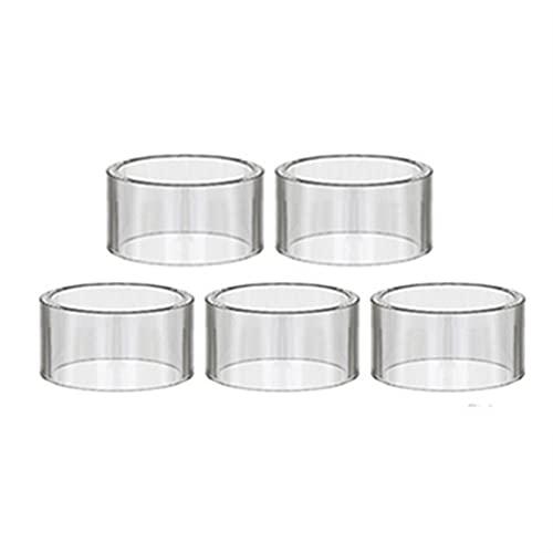 Denghui-ec 5 UNIDS Mini Copa de Vidrio Recta Fit para Azeroth RDTA/FIT para Sal RTA/Ajuste para Tubo de Vidrio de Malla de Lux (Color : 5PCS, tamaño : Fit for Azeroth RDTA 4ml)