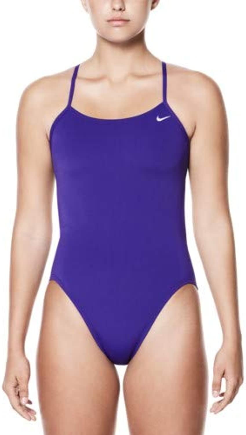 Nike Polyester Core Solid Cut-Out Tank Female, Court 紫の, 30