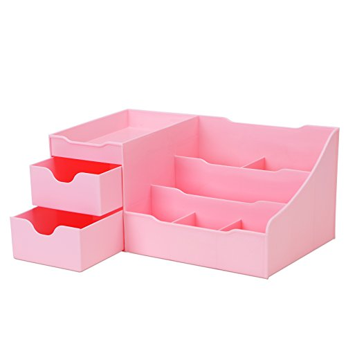 Uncluttered Designs Make-up Organizer Mit Schubladen (Rosa)