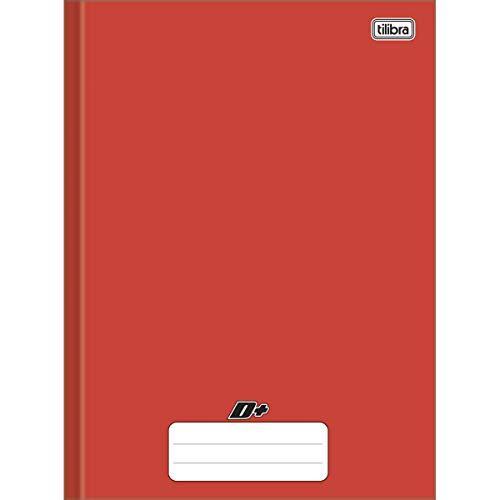 Caderno Brochura Universitário Capa Dura, Tilibra, D+, 200x275mm, 96 Folhas, Vermelho