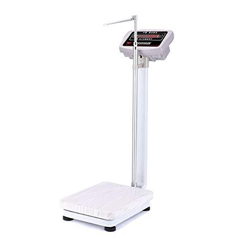 Báscula Electrónica de Alta precisión, Alturas Plegables y Escalas de Peso, con Barras de Altura y Pantallas HD para gimnasios, clínicas Hospitalarias, Carga 180 kg.