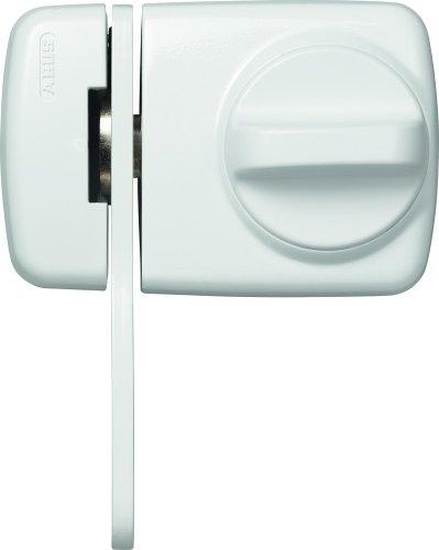ABUS Tür-Zusatzschloss 7530 mit Sperrbügel für Türen mit schmalen Rahmenprofilen, weiß, 58925